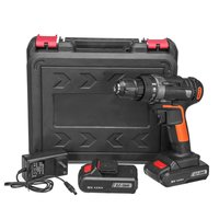 Newest 2 Speed 25V 48Nm Max Torque 3/8 Chuck Electric Screwdriver Cordless Drill Mini Wireless Power Driver DC 2 Li Battery