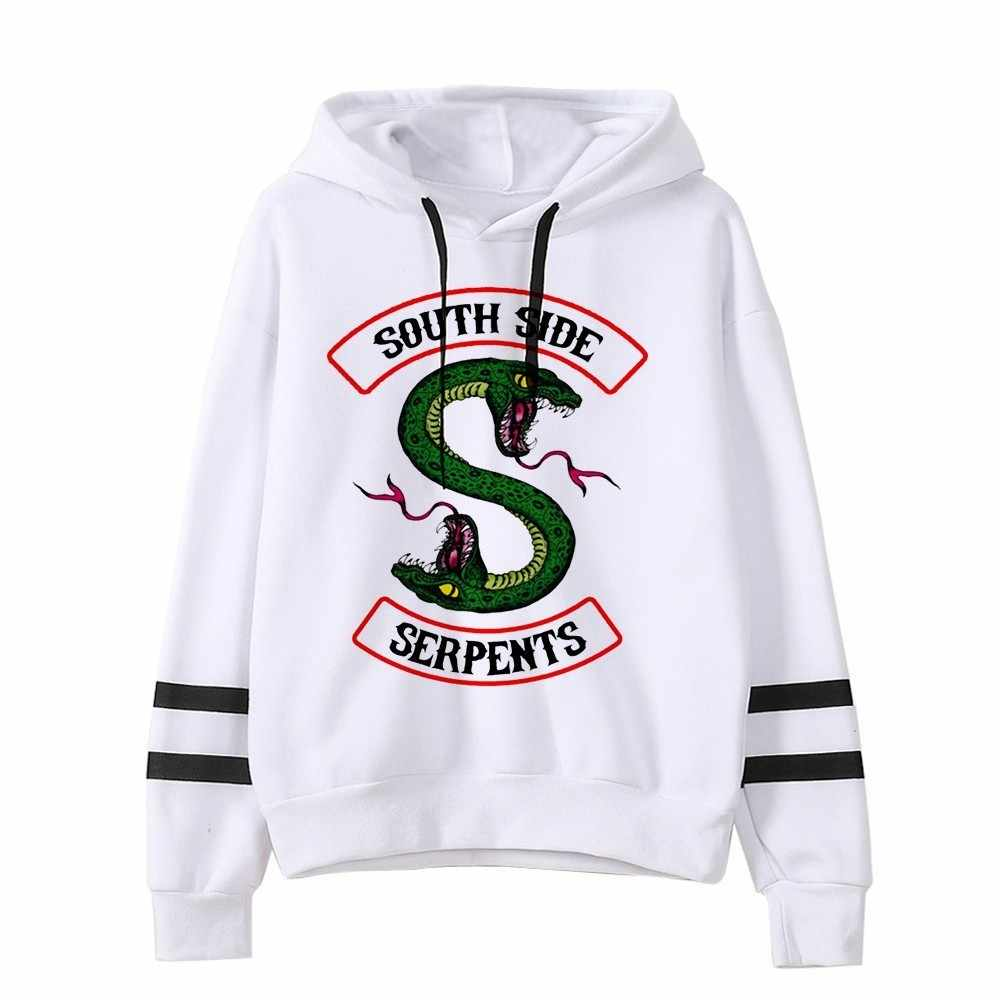 2019 Women sexy Lovely crop top hoodies RIVERDALE Southside Serpent Print harajuku hot sale casual hoodies sweatshirts plus size