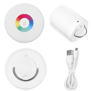Image 4 - Rechargeable Smart LED Touch Control Night Light Induction Dimmer Intelligent Bedside Lamp Dimmable RGB Color Change With Hook