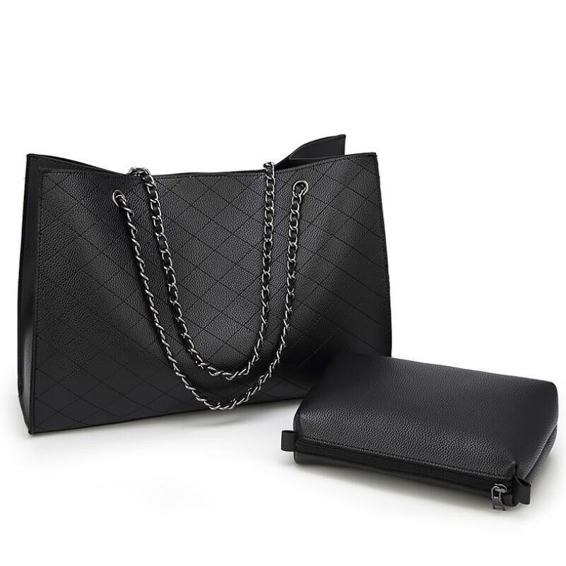 PU cuir sacs pour femmes 2019 luxe sacs à main femmes sacs Designer grand fourre-tout sac à main chaîne en cuir sac à main ensemble Bolsos Mujer49