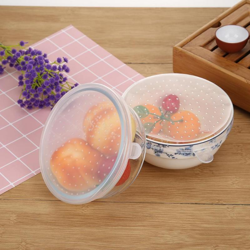 New 6pcs/set Silicone Round Leak-proof Cup Lid Stretch Lids Wrap Bowl Pot Cover Universal Food Pan