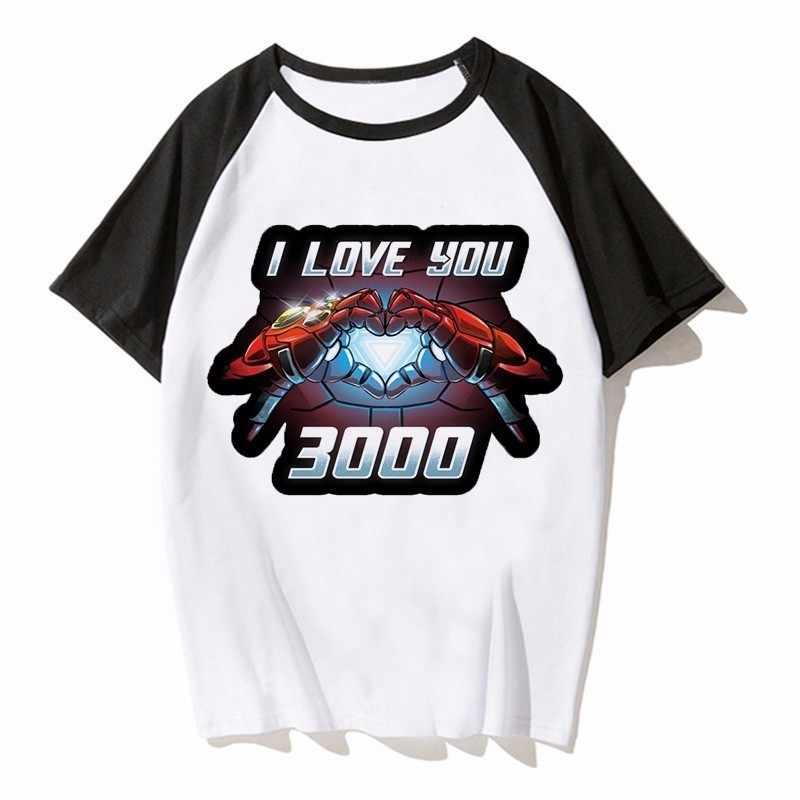 Я люблю тебя 3000 раз футболка для мужчин супергерой Железный человек Тони Старк Мстители летние футболки короткий рукав черная футболка