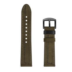Image 5 - 22MM Smart Sports Watch Strap Top Layer Fashion Replacement Leather Watch Strap 7 Shape Wristband Watch Magic Band 2019 New