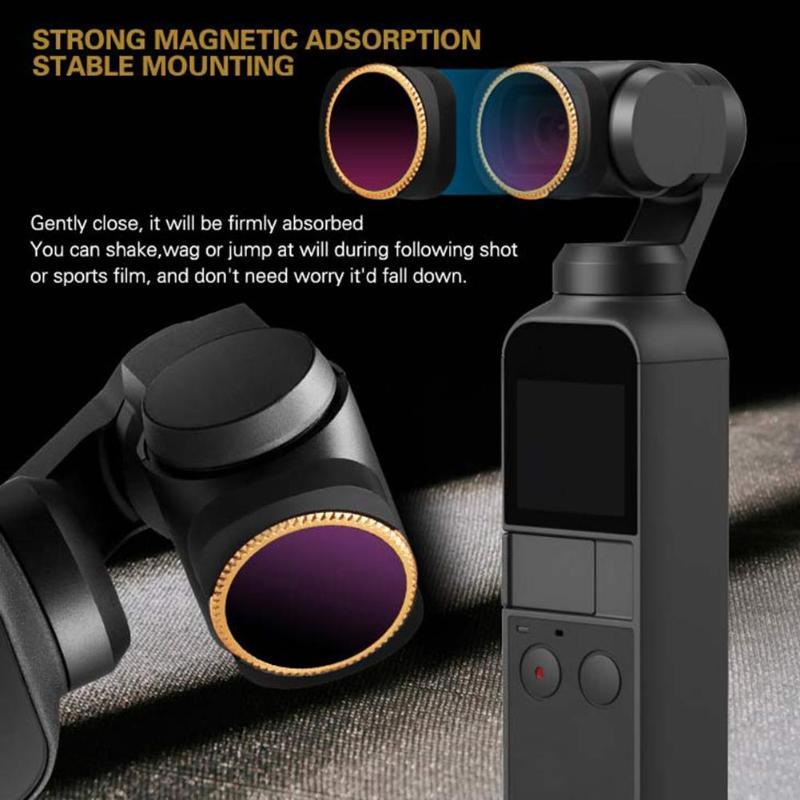 CPL ND-PL ND-X Neutre Densité Caméra filtre d'objectif Set pour DJI OSMO Pocket Poche Cardan OP-FI370, OP-FI369, OP-FI368
