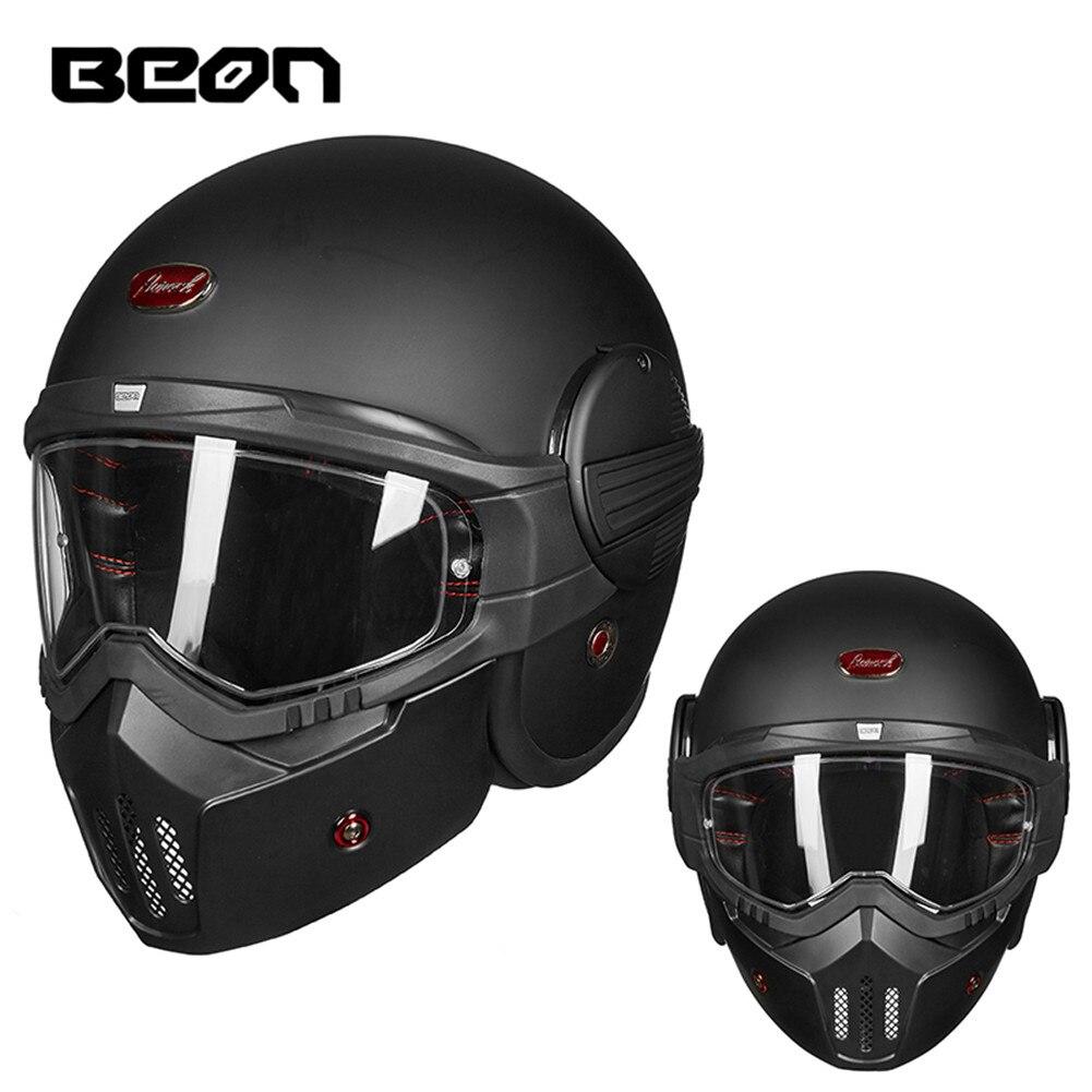 Baoblaze 3 Snap Motorcycle Vintage Retro Helmet Bubble Visor Flip Up Open Face Shield Lens as described 4