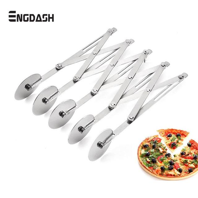 ENGDASH 3/5 Wheels Cutter Dough Divider Side Pasta Knife Flexible Roller Blade Pizza Pastry Peeler Stainless Steel Bakeware Tool