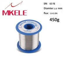 Solder Wire 63/37 Tin 2.0mm 450g Rosin Roll Flux Reel Lead Melt Core Soldering Arame de solda free shipping new practical 0 8mm 450g tin solder melt rosin core soldering wire reel flux wire weld w0005
