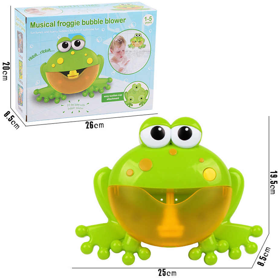 2019 Kids Swimming Water Toys Newborns Baby Bath Bubble Machine Big Frogs Automatic With Music Wash Play Cartoon Educational Toy
