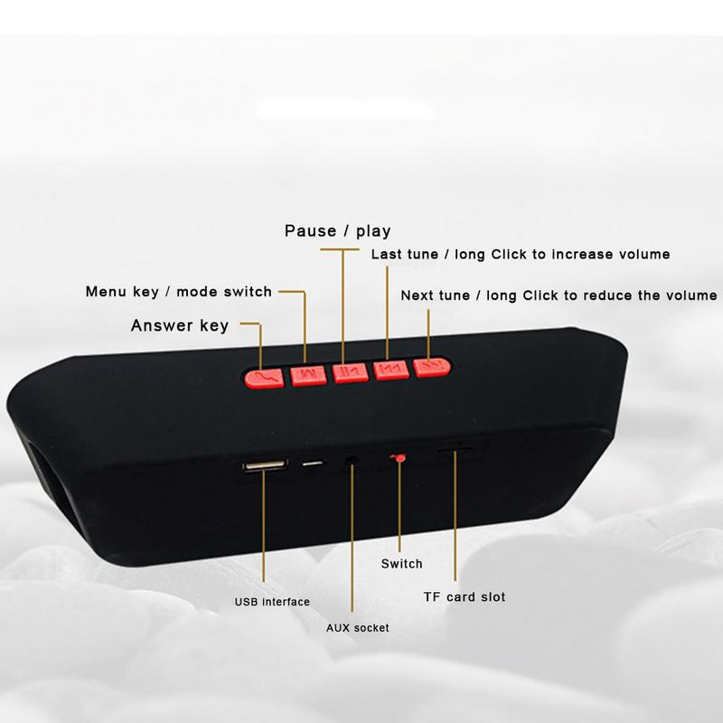 Image 5 - SC208 Wireless Bluetooth Speaker Mobile Phone Hands free Subwoofer TF Card Double Loudspeaker Portable Outdoor Car Audio-in Portable Speakers from Consumer Electronics