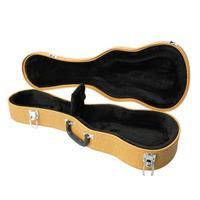 24 High Quality Leather Concert Ukulele Gig Bag Portable Padded 24 Inch Ukelele 4 Strings Guitar Carrying Case (Ship from US)