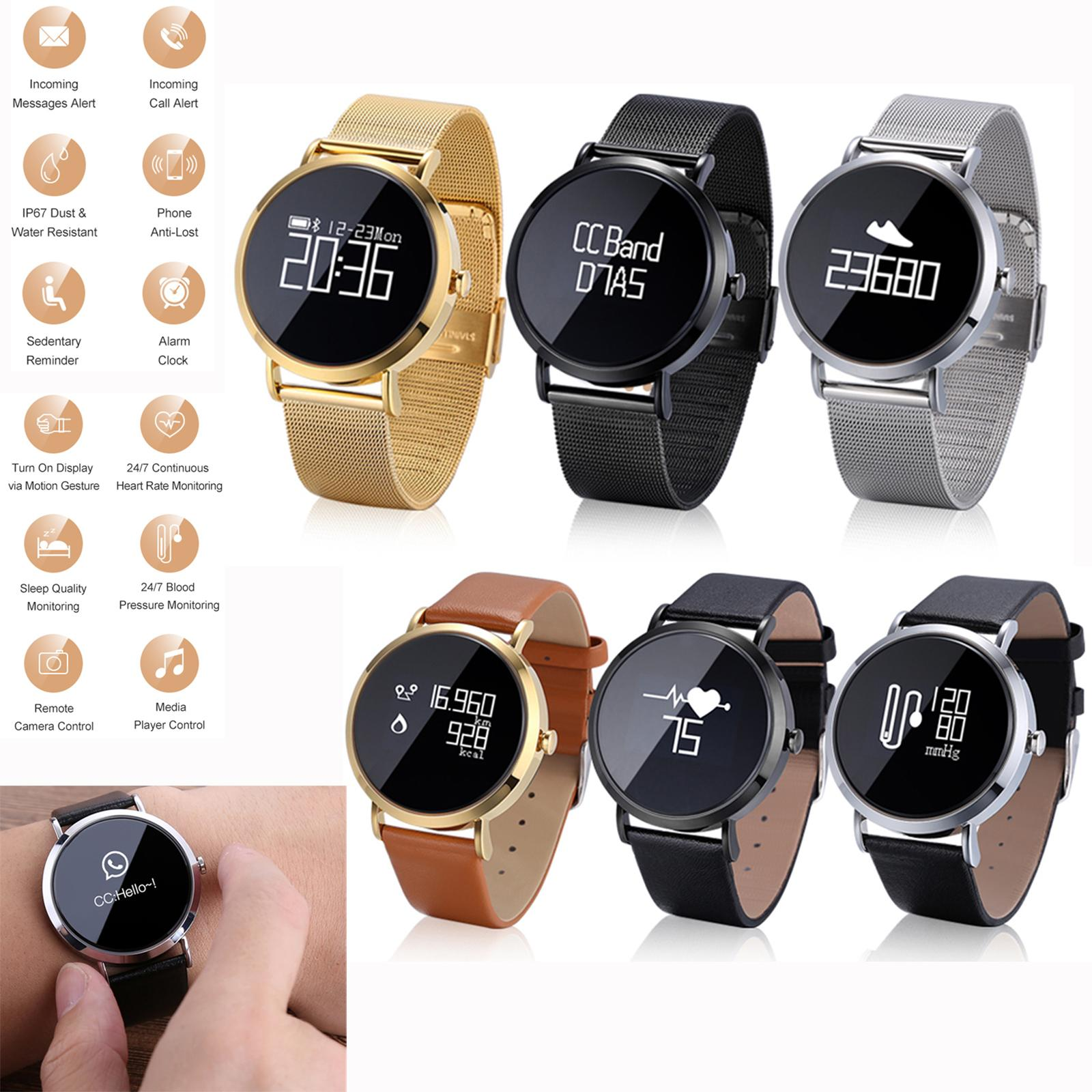 Men Women Business Watch Bluetooth Smart Watch Sport Wristwatch Pedometer  Heart Rate Monitor for Samsung S9 S8 J7 J5 iPhone XS X