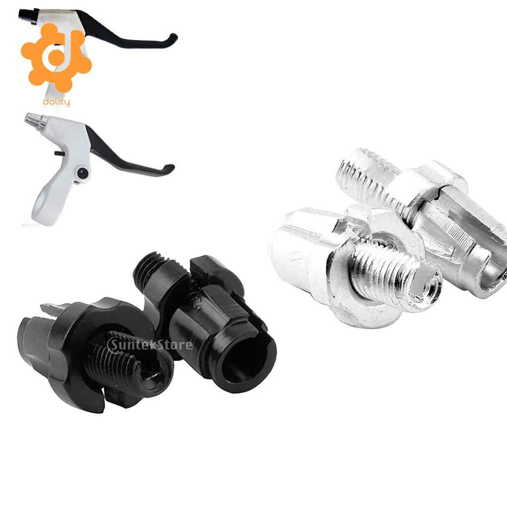 1 Pair M7x10.5X4.6inch Mountain Bike Bolt Brake Lever Screw Cable Adjuster Black