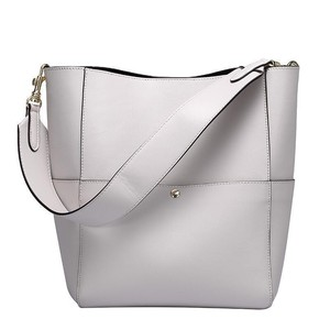 Image 2 - 2020 Women Real Genuine Leather Tote Bag Black Bucket Handbags Female Luxury Famous Brands Ladies Shoulder Brown Bag Designer