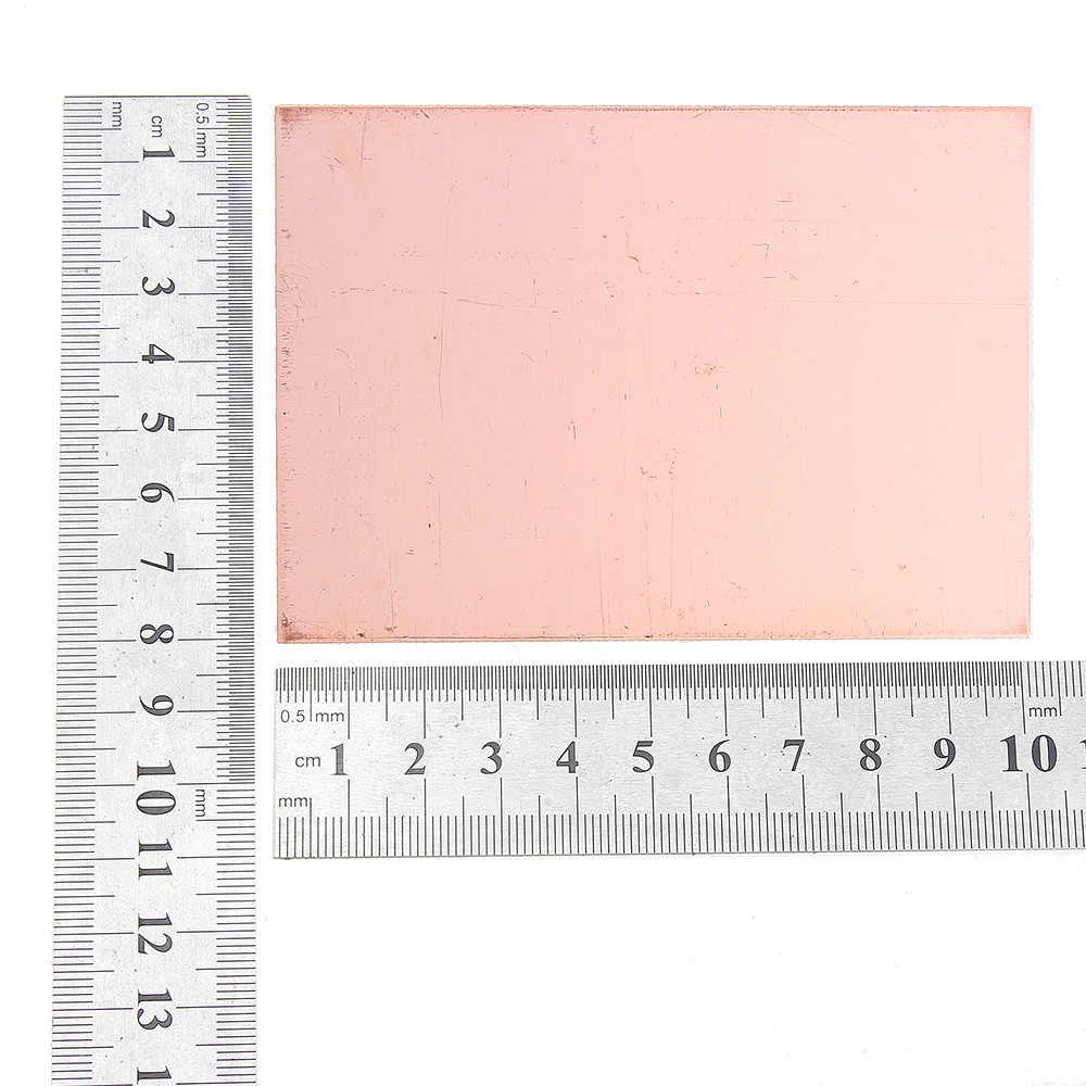 جديد 10 قطعة 7x10 سنتيمتر واحد الوجهين النحاس لوحة دارات مطبوعة FR4 الألياف الزجاجية المجلس