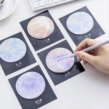 2018 neue Natürliche Traum Serie Selbst-Adhesive Memo Pad Sticky Notes Lesezeichen Schule Büro Versorgung Drop Verschiffen