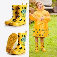 New fashion kids shoes rain boots baby Children's shoes rubber kids waterproof rain boots water platform shoes slip rainy day