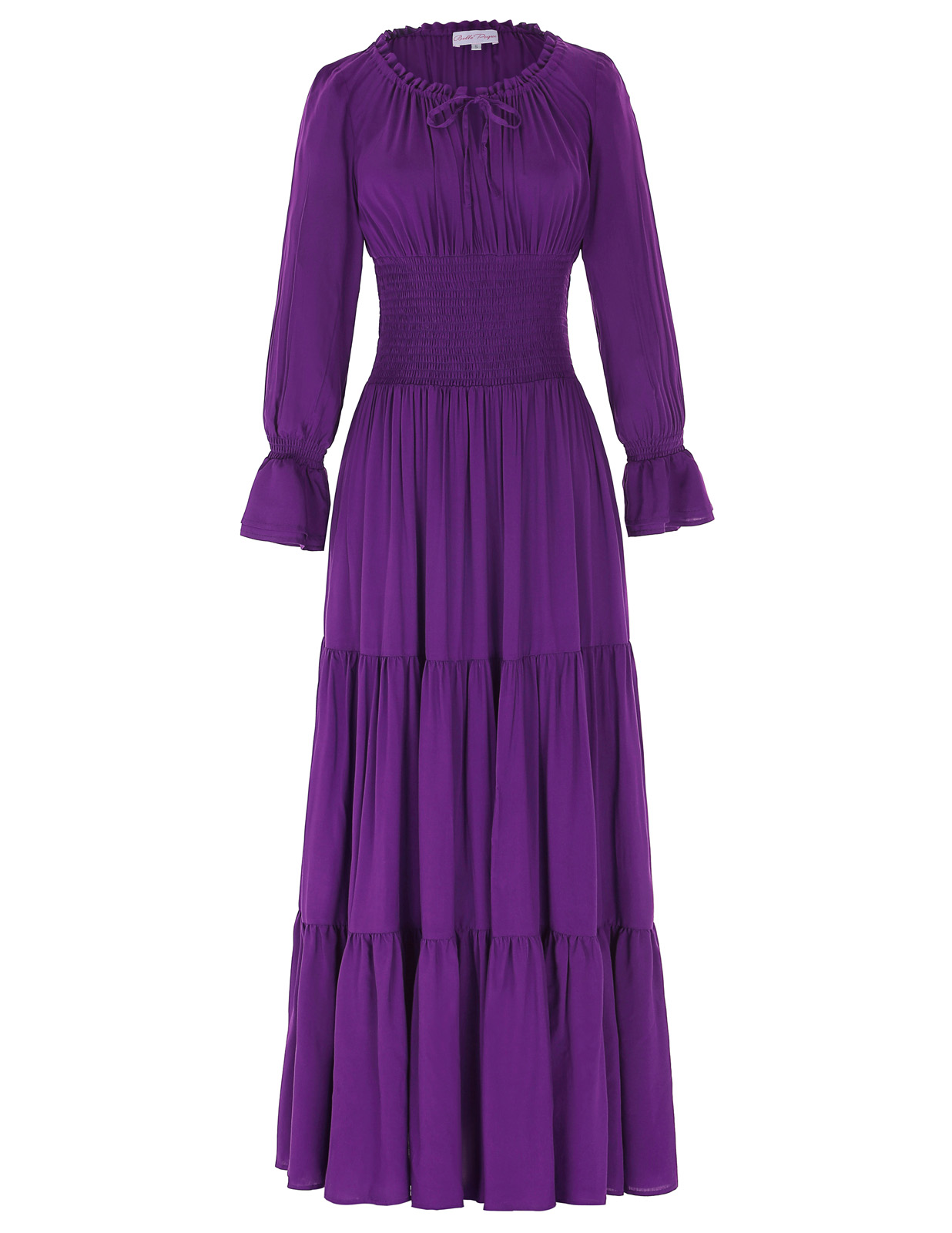 PLUS SIZE Retro Housewife Long Sleeve Punk Gothic Ruffles Prom Gown PARTY Dress