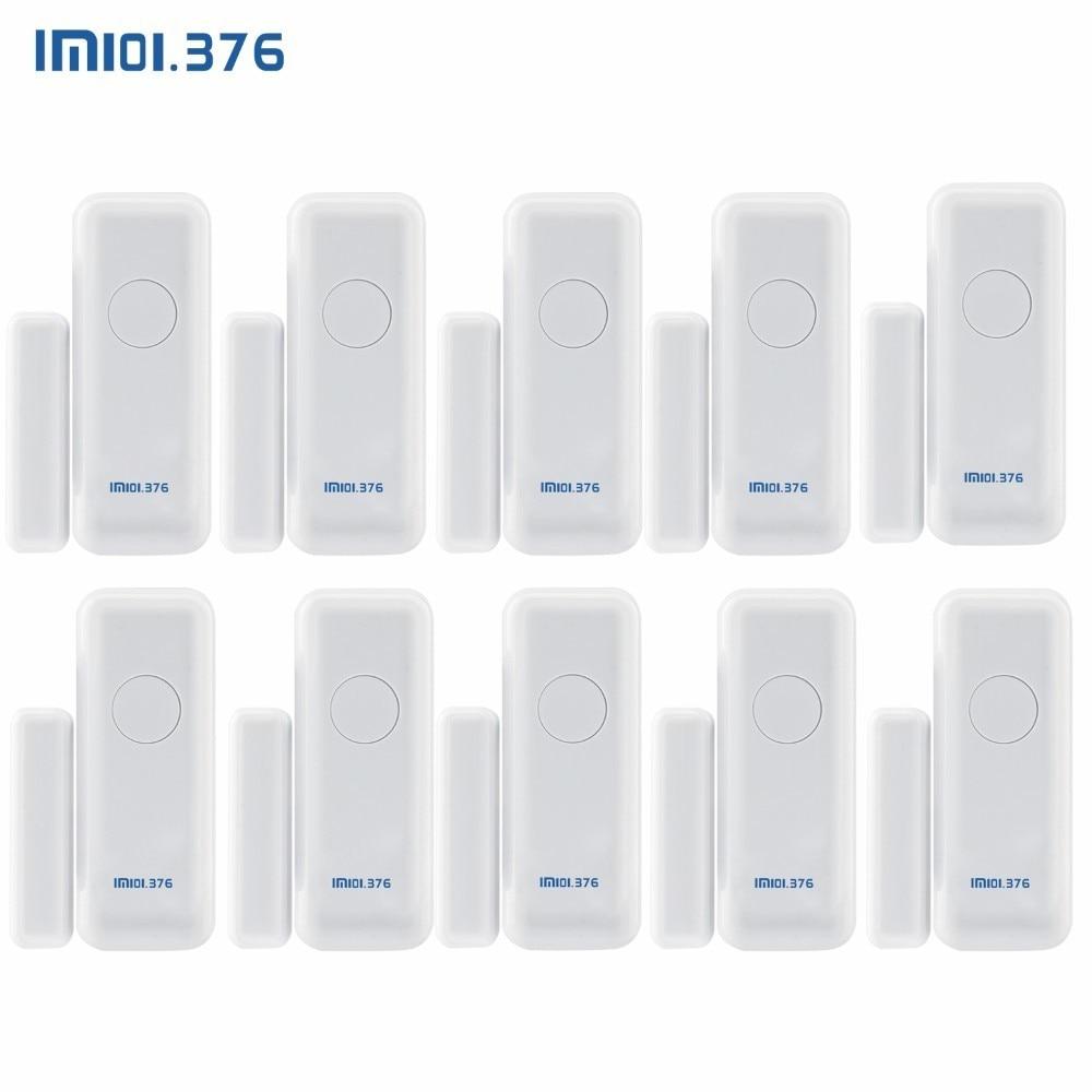 Détecteur de capteur d'aimant de porte de fenêtre sans fil de LM101.376 433MHz pour le système d'alarme sans fil à la maison