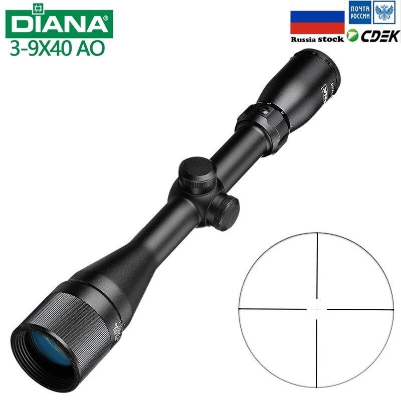 Тактический DIANA 3-9X40AO Riflescope One Tube glass Double визир прицела оптический прицел Охотничья винтовка
