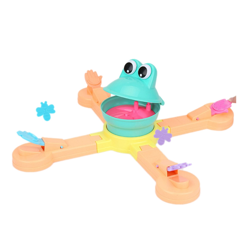 FBIL-Feeding Frog Projection Eating Beans Fun Desktop Puzzle Science Game Parent-Child Interactive Children'S Toys