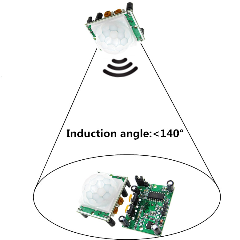 50PCS LOT HC SR501 HCSR501 SR501 human infrared sensor module Pyroelectric infrared sensor imports probe 100