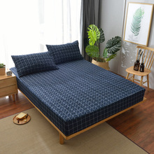 Fitted sheet double Quilted Thicken Non-slip All inclusive Bed cover mattress protective case mattress cover Free shipping