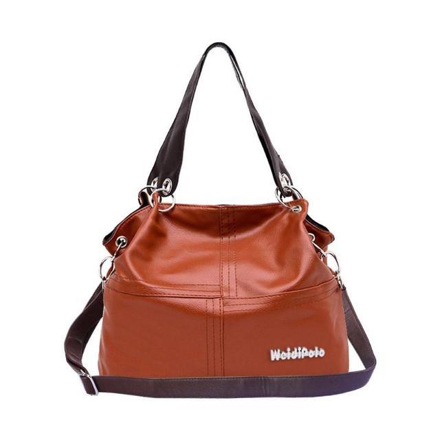 d10d61d7dda96 Retro Women Versatile Handbag Soft Offer PU Leather Bags Zipper Messenger  Bag Simple Splice grafting Shoulder Bags damen taschen