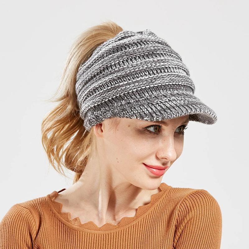 Nice Ladies Fashion Knitted Hat Women Winter Hats For Women Beanie Girls Outdoor Cap Bonnet Femme Snapback Warm Wool Hat