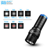 Waterproof Powerful Tactical Torch With Battery For Camping Hiking IMALENT DN35 Pocket Flashlight Rechargeable CREE XHP35 LEDs(China)
