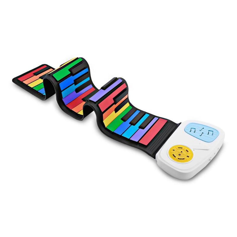 49 touches main rouleau clavier Portable souple Silicone pliable retrousser Piano enfants étudiant Instrument de musique clavier électronique
