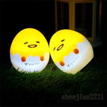 Япония Горячая грустное яйцо Гудетама светильник милый декоративный стол Lam ленивый яичный желток Gudetama сна СВЕТОДИОДНЫЙ детская игрушка