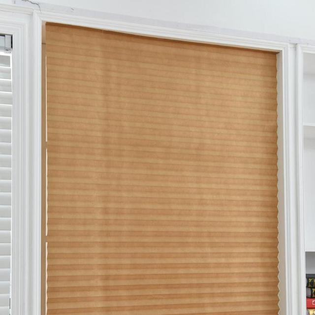 Self Adhesive Pleated Blinds Curtains Half Blackout Windows For Bathroom  Balcony Shades For Living Room Home Window Door