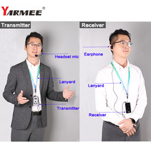 YARMEE Wireless Tour Guide System 1 Transmitter with Mic, 5 Receivers with Earphones YT200