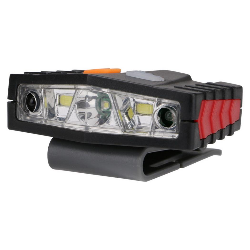 2 En 1 Phare Lampe Cob 7-15 M Led 180-300 Min Tactile Cob: 60 Min, Led: 250 Min Induction Phare Led + Cob
