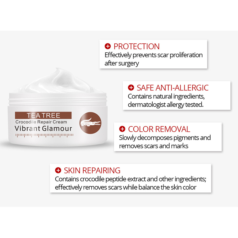 VIBRANT GLAMOUR Acne Treatment Cream Repair Face Marks Remove Acne Scar Crocodile Whitening For Spots Acne Treatment Stretch