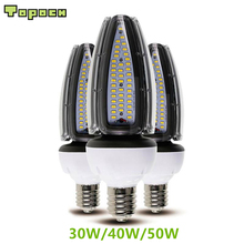 Topoch LED Corn Bulbs 120LM/W 30W 40W 50W UL CE Approved Screw Base HID Replacement 100-277V for High Bay Garden Square Fixture цена