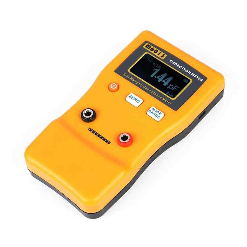 1 sztuk auto zakrojone miernik pojemności M6013 wyświetlacz LCD o wysokiej, możesz o nich nadmienić kondensator miernik profesjonalne pomiaru odporność pojemność