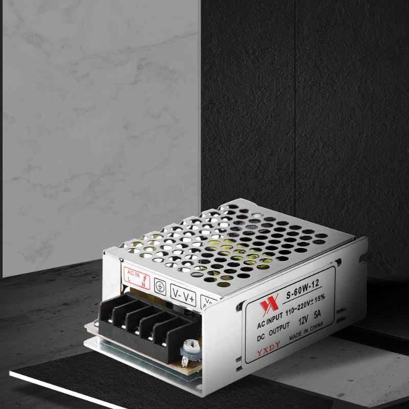 DC 12 В 5A 60 Вт новое освещение светодиодный трансформатор адаптеры питания переключатель для светодиодные ленты Выключатель света питание дропшиппинг Лидер продаж