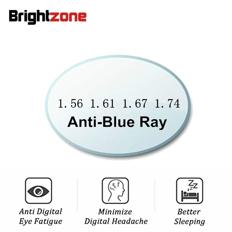 A Pair Anti Blue Ray Light Aspheric Lens CR 39 Prescription Myopia Presbyopia Clear Lens Anti Radiation 1.56 & 1.61 & 1.67 IndexEyewear Accessories   -