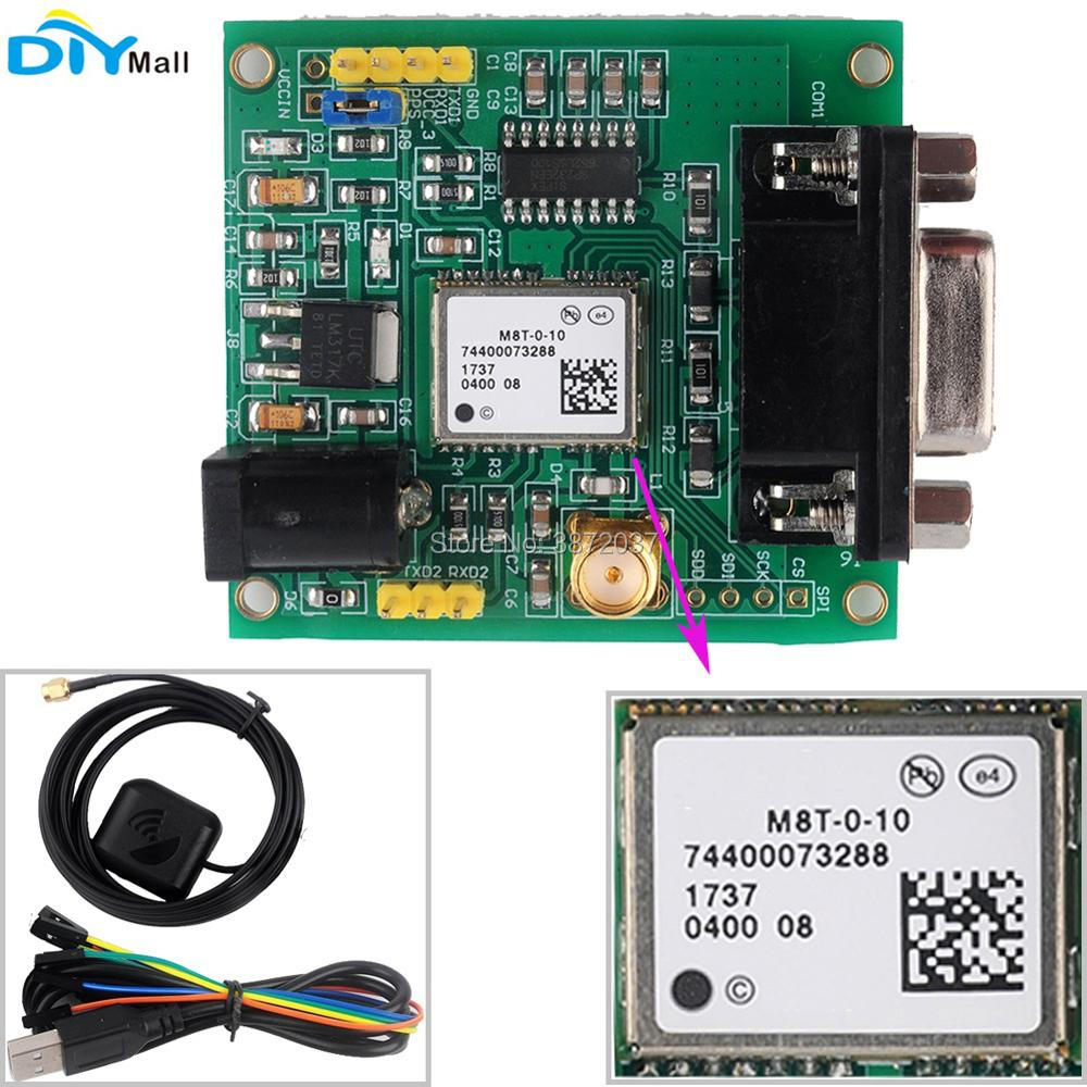 M8T GPS Module Glonass GLNS Development Board RS232 with GPS Antenna Female to Female Cable for Arduino 3v 5v ublox neo 6m gps module gy gps6mv2 neo6mv2 buit in eeprom apm2 5 antenna rs232 ttl board for arduino flight control