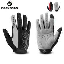 ROCKBROS Cycling Gloves Touch Screen GEL Bike Sport Shockproof MTB Road Full Finger Bicycle Men Guantes Ciclismo