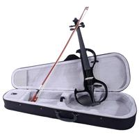 4/4 Electroacoustic Violin Kit Basswood Fiddle with Gig Bag Case & Bow & Rosin for Musical Lovers Beginners ( Ship from US )