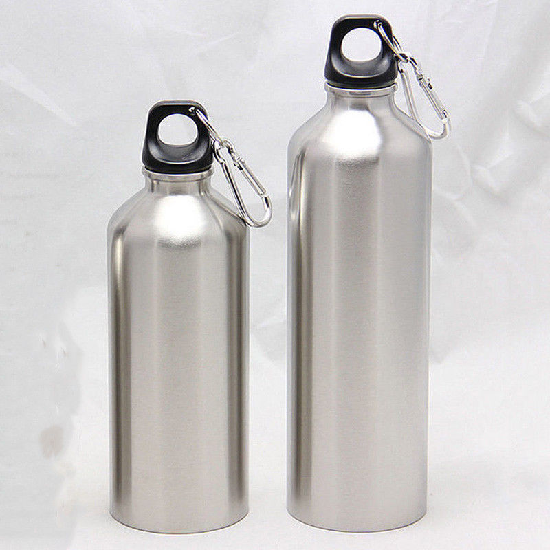 500ML 750ML Stainless Steel Sports Water Bottles + Leak Proof Cap Gym Canteen Tumbler Water Bottle With Lid 25oz image