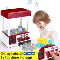 ABS Plastic Portable Arcade Candy Grabber Machine Toy Motorized Claw Game Kids Fun Crane Gadget Coin Operated Game Entertainment