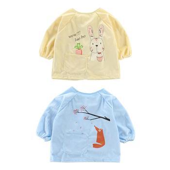 Waterproof Baby Bibs Burp Cloth Long Sleeve Baby Feeding Clothes Cartoon Infant Smock Bibs for 0-4T Kid Feeding Accessories Care