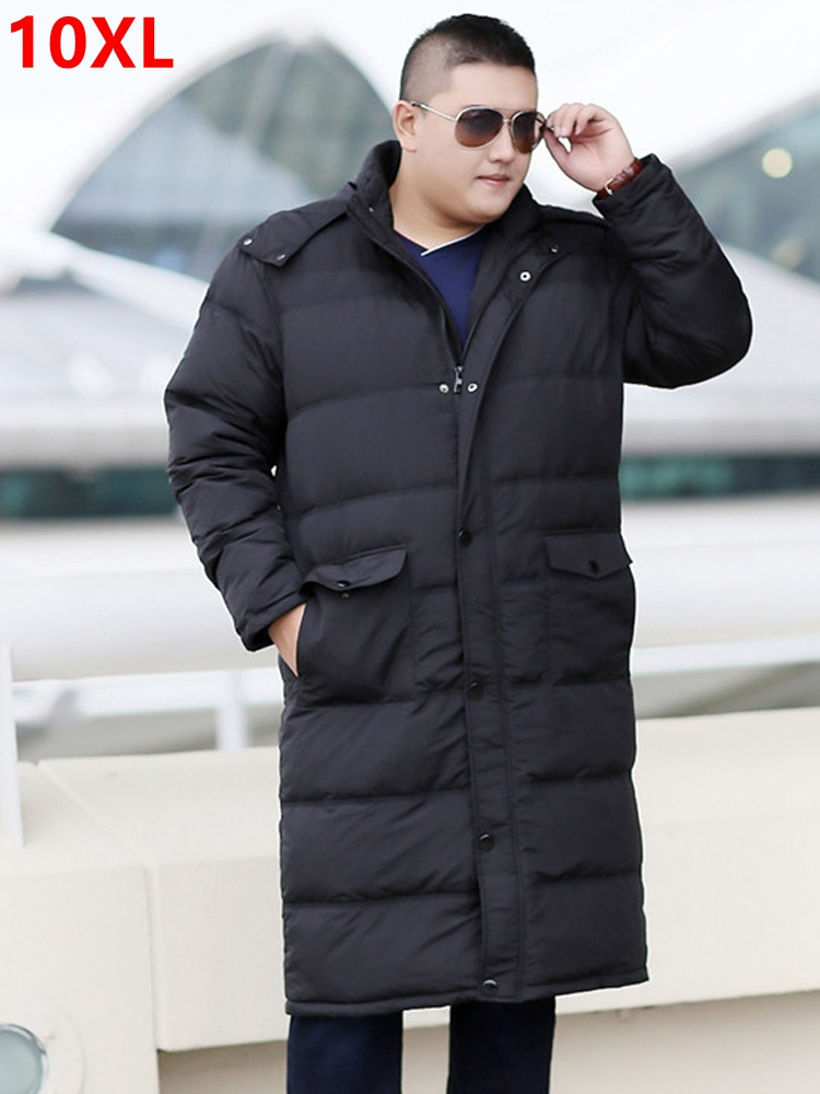 Ambitious Winter Long Down Jacket Tall Big Size Fat Xl Coat Overknee 10xl 9xl Plus Size Long Paragraph Male Winter Clothes 8xl 7xl 6xl