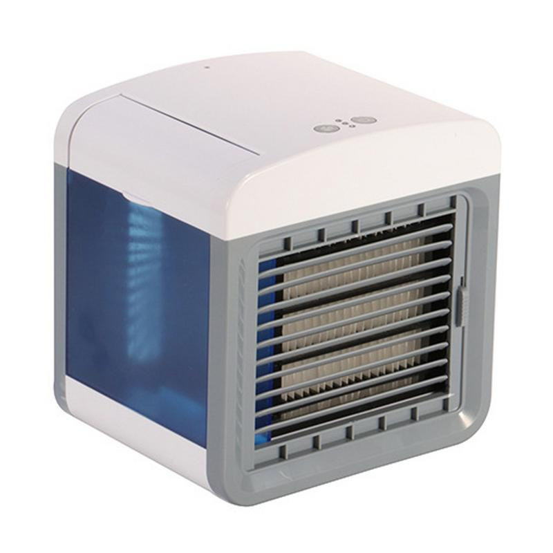 Mini Air Cooler USB Small Air Conditioning Fan Portable Mini Humidification Purifies Desktop Air Cooling Fan For Home Office
