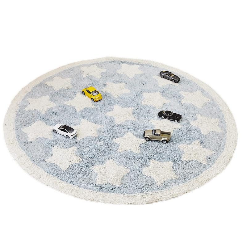 INS nordique vent étoiles couverture ronde enfants tapis de jeu tente tapis garçons et filles décoration de chambre 110 cm