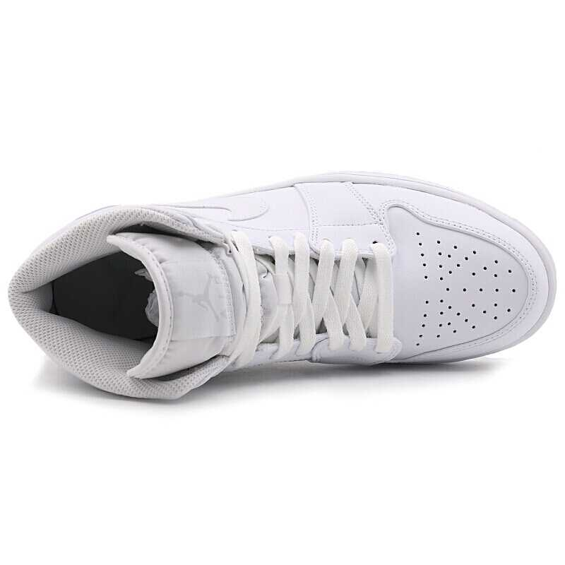 Nike air jordan 1 meados de aj1 meados original nova chegada sapatos de basquete masculino respirável confortável tênis #554724