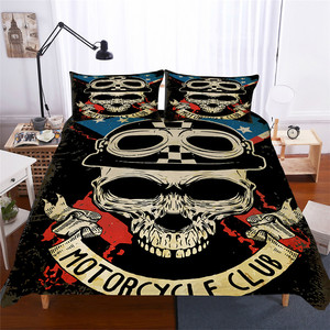 Image 1 - Bedding Set 3D Printed Duvet Cover Bed Set skull Home Textiles for Adults Lifelike Bedclothes with Pillowcase #KL02